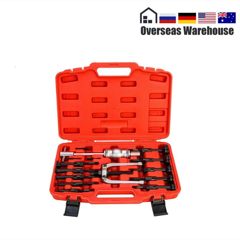 16PCS Car Bearing Separator Bearing Puller Converter Removal Inner Holes Tool Kit Auto Repair Tool Bearing Removal Tool