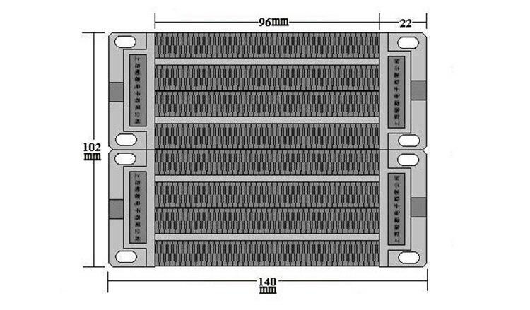 Высокое качество 1000 Вт 110 В утепленная PTC керамический нагреватель воздуха нагревательный элемент 140*100 мм