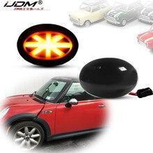 IJDM Amber Union Jack logo logosu LED ışıkları çamurluk yan ikaz lambaları MINI Cooper için Gen2 R55 R56 R57 R58 R59 dönüş sinyal