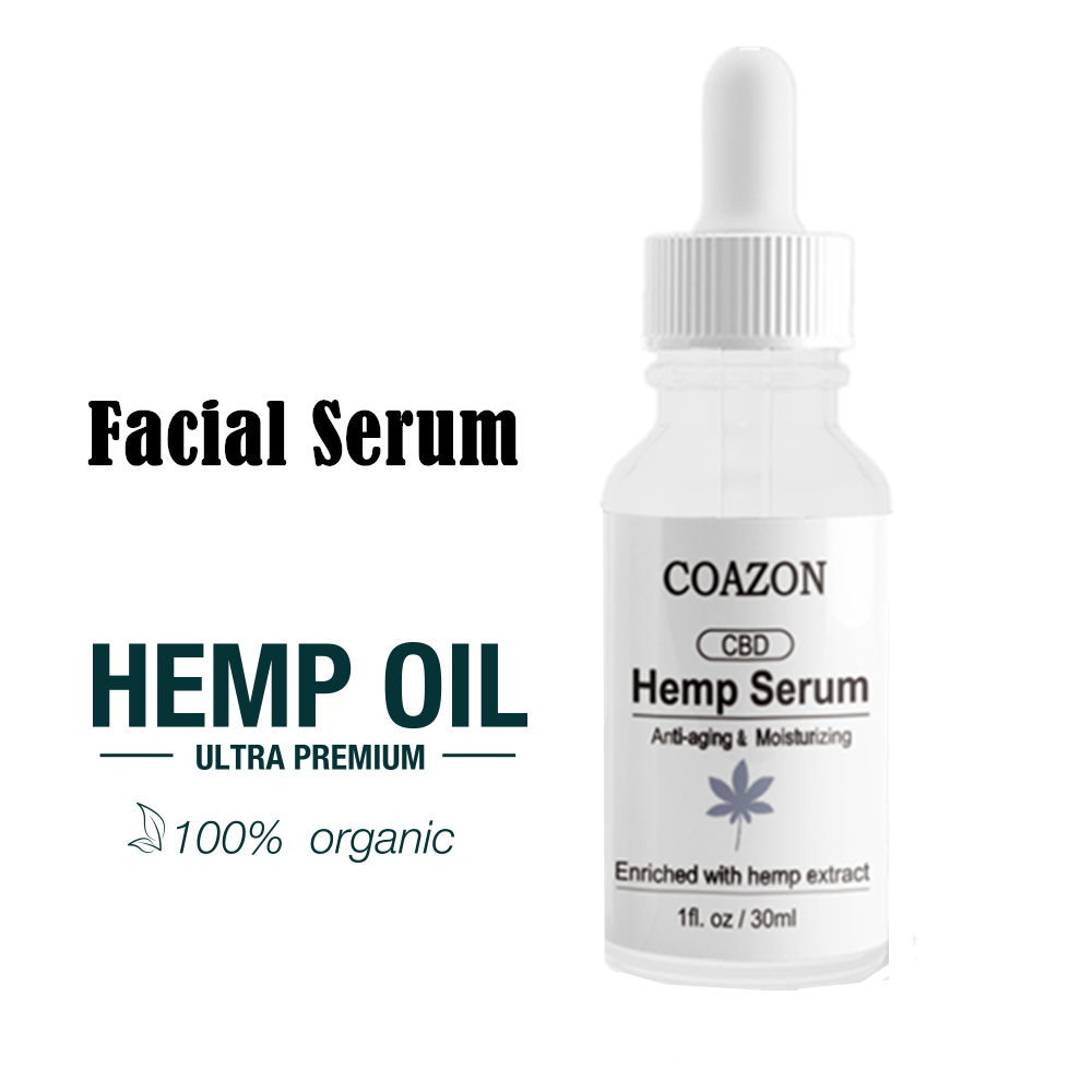 Vitamin C Serum Enriched With Organic Hemp Seed Oil Hyaluronic Acid Nourishes Anti Aging Anti Wrinkle Moisturizing Facial Serum