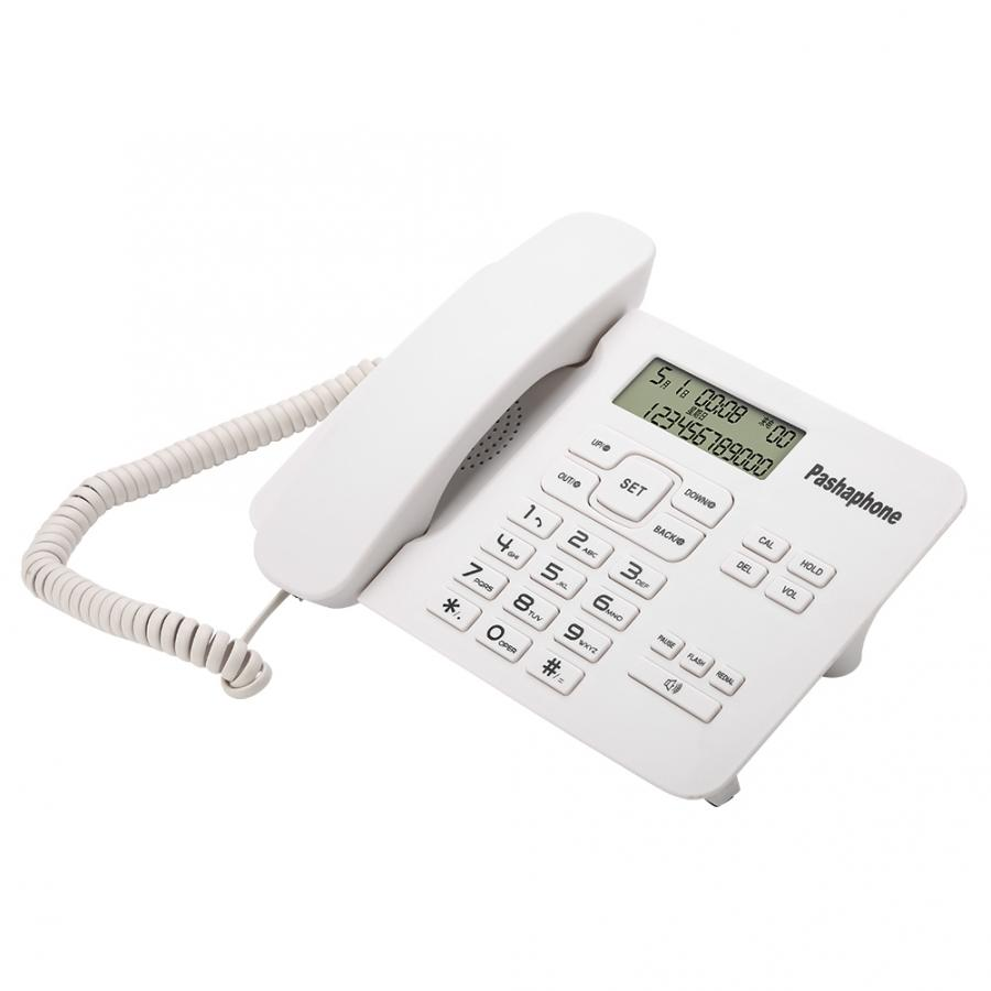 cordless phone Corded Phone with Caller ID/FSK/DTMF Dual System/Calendar LCD Display For Home Office White telephone portable