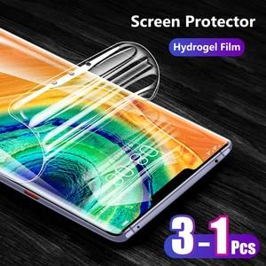 Для Huawei Mate 30 Pro 20 X mate30pro 5G P30 P20 Pro Lite Nova 4e Передняя тонкая полная крышка мягкая ТПУ Гидрогелевая пленка защита для экрана