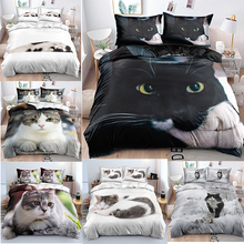 Bedding-Covers Printting Comfort with Cat-Pattern 3D Children Custom-Size Polyester Fabric