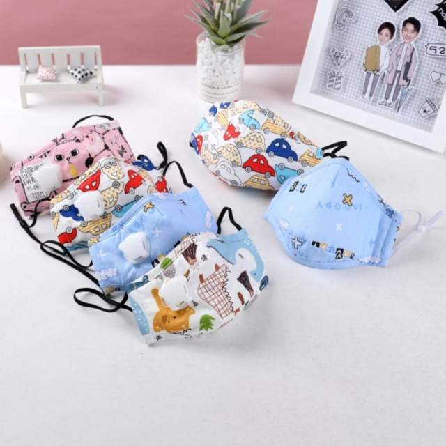 Children Mask With Breath Design Replaceable Filter Anti Dust Mouth Mask Washable Comfortable Respirator Kids Safety Face Mask 3