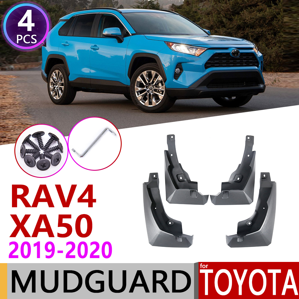 4 PCS Front Rear Car Mudflap for Toyota RAV4 XA50 50 2019 2020 Fender Mud Flaps Guard Splash Flap Mudguards Accessories RAV 4