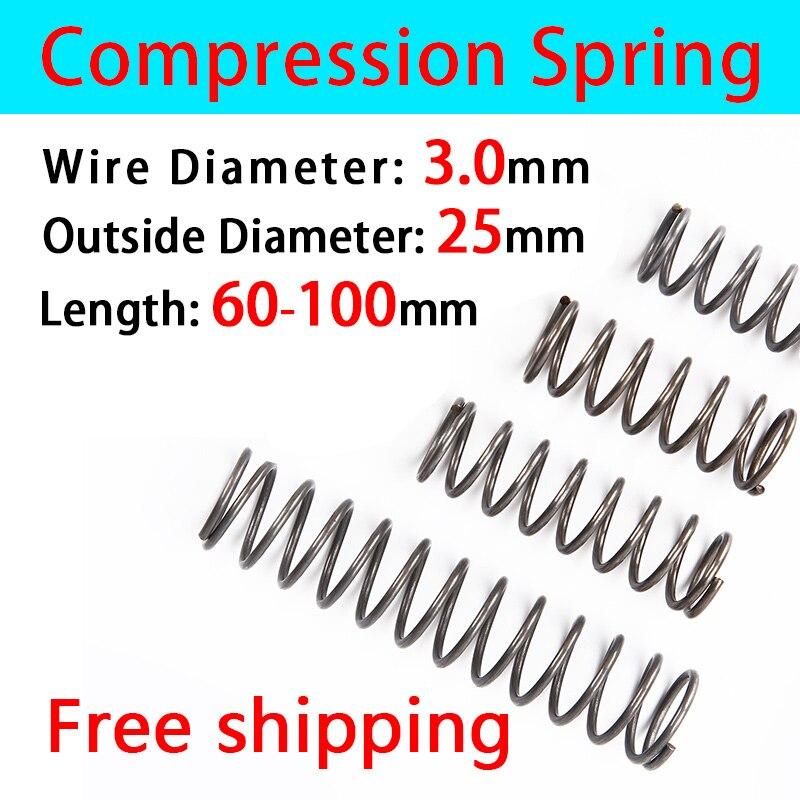 Compressed Spring Pressure Spring Cash Sale Line Diameter 3.0mm, External diameter 25mm, Length 60mm-100mm Return Spring
