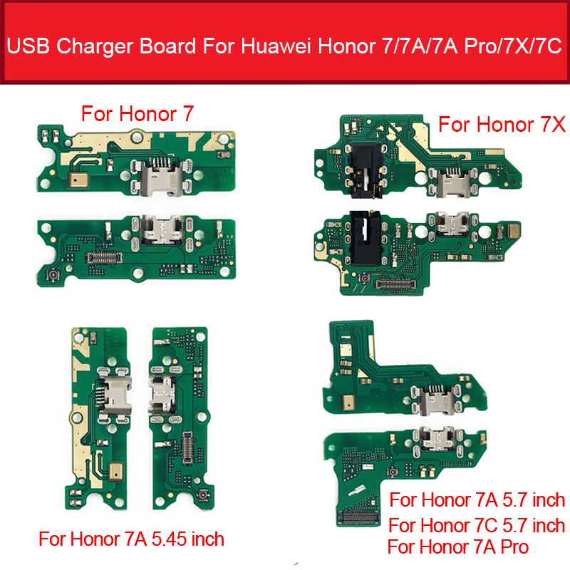 USB Charger Port Dock Board For Huawei Honor 7A / 7A Pro AUM-L29 / 7C AUM-L41 / Honor 7X Charging Jack Board Replacement Parts