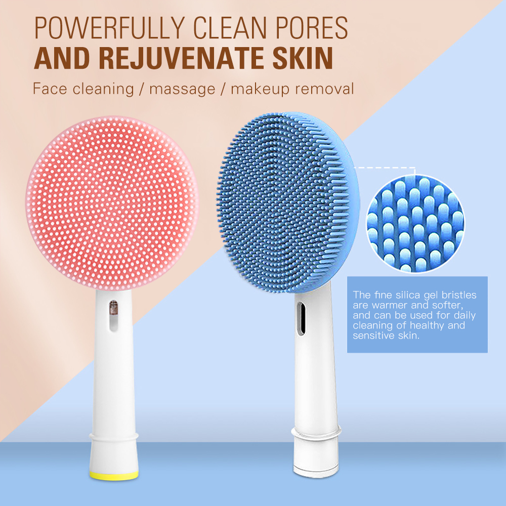 Facial Cleansing Brush Head Suitable For Oral-B Electric Toothbrush Handle Facial Massager Cleanser Brush Heads Skin Care Tools
