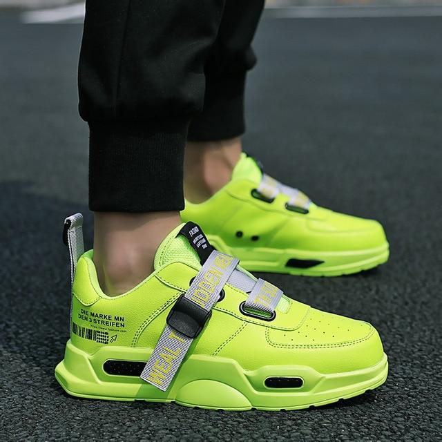 Men's Sport Shoes Neon Green Breathable