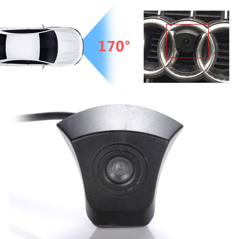 170 Degrees HD CCD Car Front View Camera Parking System For Audi A1 A2 A3 A4 A5 A6 A7 A8 Q3 Q5 Q7 TT TTS MK2 MK3 MK4
