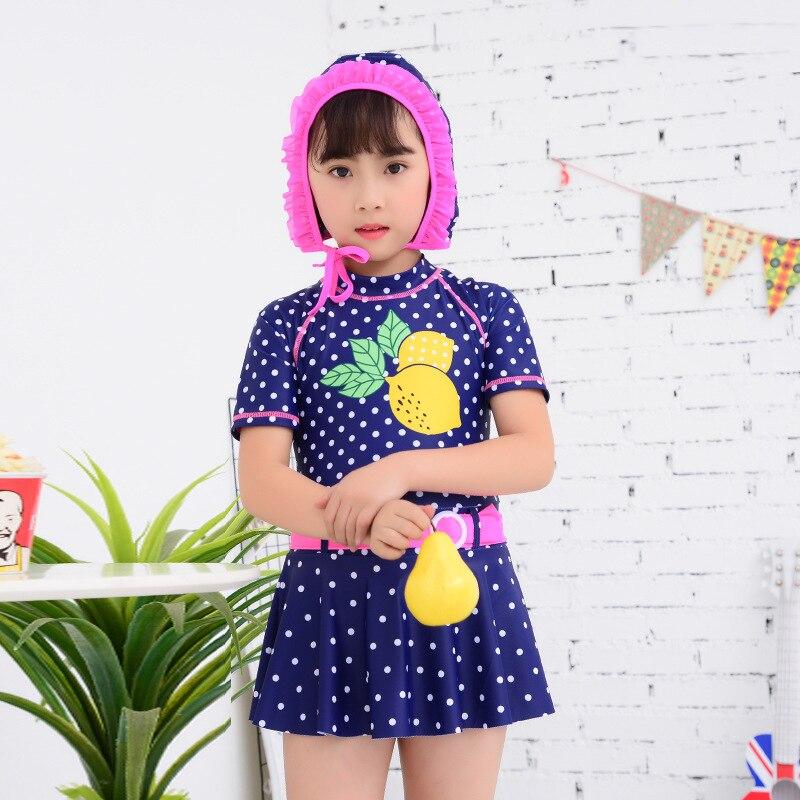 New Style CHILDREN'S Swimwear GIRL'S One-piece Swimming Suit Cute Princess Young STUDENT'S Cartoon Quick-Dry Skirt Swimwear