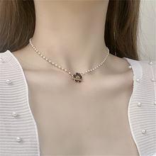 Женское ожерелье с подвеской в виде цветка