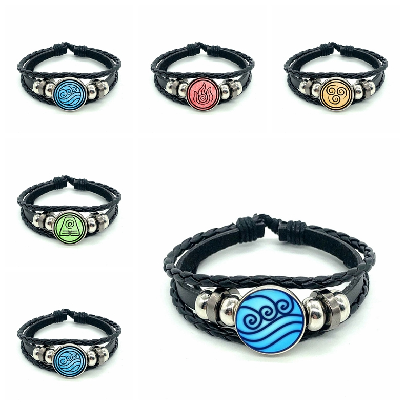 New Avatar The Last Airbender Bracelet Kingdom Jewelry Air Nomad Fire And Water Tribe  Dome  Glass  Bracelet gift