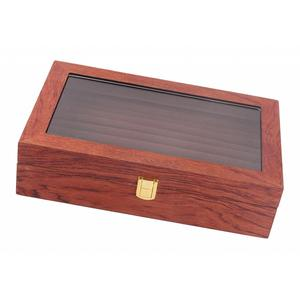 Glass Lid Rosewood Ring Tray J