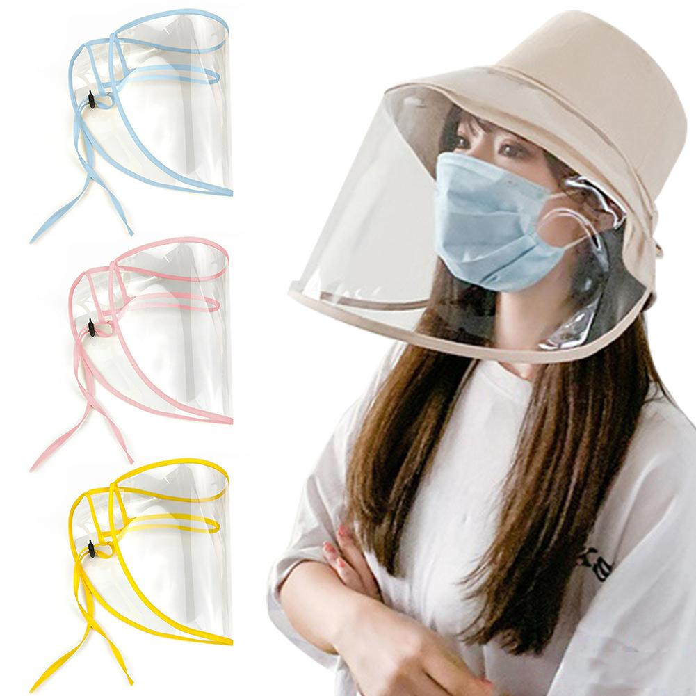 5 Colors Adjustable Face Shield Cover Anti Split Dust-proof Full Face Cover Mask Transparent Sun Visor