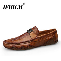 New Fashion Men Italian Loafers Mens Slip On Casual Shoes Male Genuine Leather Male Business Luxury Shoe Gentleman Driving Shoes