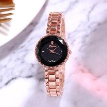 Fashion Women 's Leather Band Luxury Watches Women Dress Bracelet Watch Fashion Analog Quartz Diamond Wrist Watch Clock
