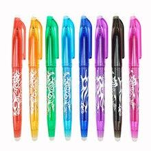 Stylo magique effaçable Kawaii, 0.5mm, 9 couleurs au choix, fournitures de papeterie scolaire et de bureau pour étudiants