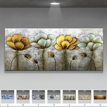 Original Hand Painted Abstract flowers landscape oil painting on canvas Wall art Pictures for Living Room home decor no framed(China)