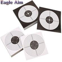 50/100 упаковок 14X14 см съемные наклейки мишень Пейнтбол/Воздушный пистолет свинцовые гранулы/Рогатка сталь BB стрельба цели аксессуар