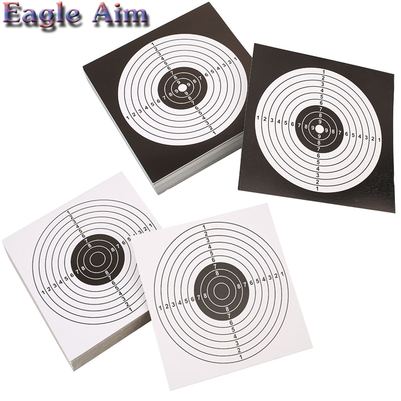50/100 Packs 14X14CM Shooting Target Stickers Paintball/Air Gun Lead Pellets/Slingshot Steel BB Shooting Targets Accessory