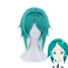 Land of the Lustrous Phosphophyllite Wig Cosplay Costume Green Short Hair Heat-resistant Synthetic Hair Anime Role Play Wigs(China)