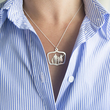 Fashion Vintage Figures Pendants Summer Girl Adult Woman Clavicular Chain Short Necklace Jewelry Holiday-YSF
