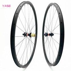YASE 29er bicicleta aro 29 węgla mtb koła tarczowe 40x25mm asymetria bezdętkowe NOVATEC D411SB-D412SB 100x15 142x12 węglowe koła
