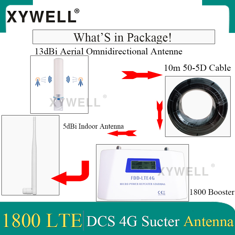 70dB Gain cellular signal booster 1800 gsm repeater FDD LTE GSM 1800Hz Band3 4G DCS LTE 1800 Mobile Signal Booster 4G Amplifier 5