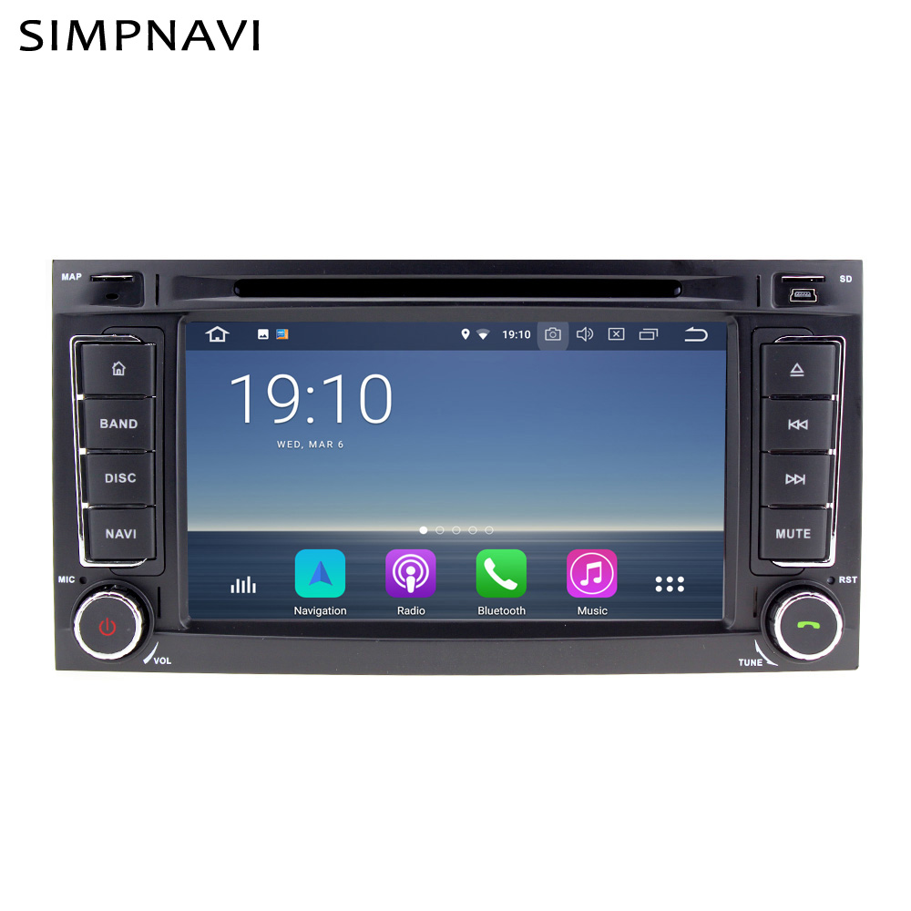 Android Auto Radio GPS Navigation DVD Player Für Volkswagen <font><b>VW</b></font> Touareg Transporter <font><b>T5</b></font> Multivan Gebaut in Carplay AndroidAuto DSP image