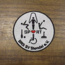 Personalised Logo Custom Made Patch Badges for promotional gift giveaway Embroidered With Fastner 08