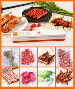 Image 3 - WOMSI מזון אוטם ואקום אריזה מכונה עם 15pcs שקיות משלוח ואקום מזון איטום מכונת ואקום אוטם פקר
