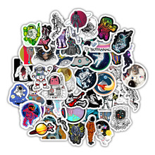 50Pcs Outer Space Graffiti Stickers Astronaut for Luggage Motorcycle Laptop Refrigerator Toy Car Pvc Waterproof Sticker