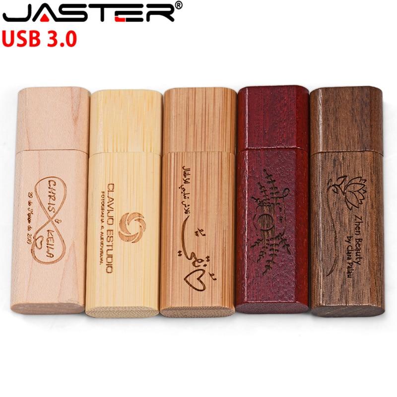 JASTER LOGO Maple Wood/Walnut Wood Pendrive 4gb 8gb 16gb 32gb Usb3.0 Usb Flash Drive Gift Pendrive