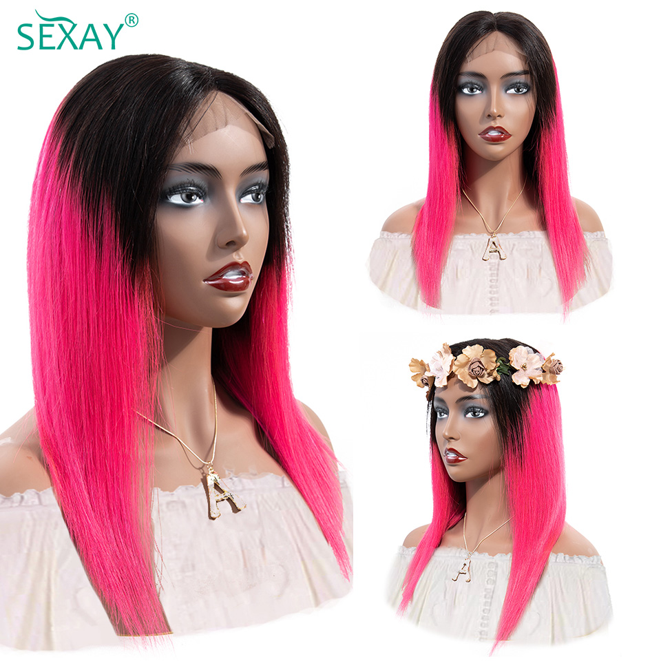 sexay 4x4 lace closure wig lace front human hair wigs for women (11)