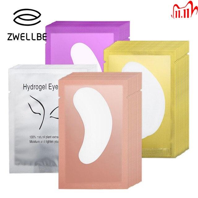 10/20/50 Pairs Eyelash Pad Gel Patch Grafting Eyelashes Under Eye Patches For Eyelash Extension Paper Sticker Wraps Makeup Tools