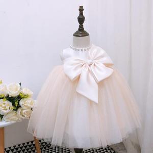 Для маленьких девочек для свадебного торжества; платье для крещения крестильное платье цвета шампанского платье принцессы платье для малы...
