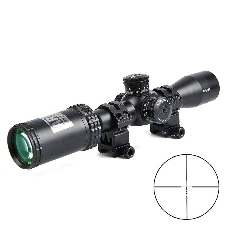 2 7x 32mm AR Optics Drop Zone 22 BDC Rimfire Reticle Riflescope with Target Turrets Hunting