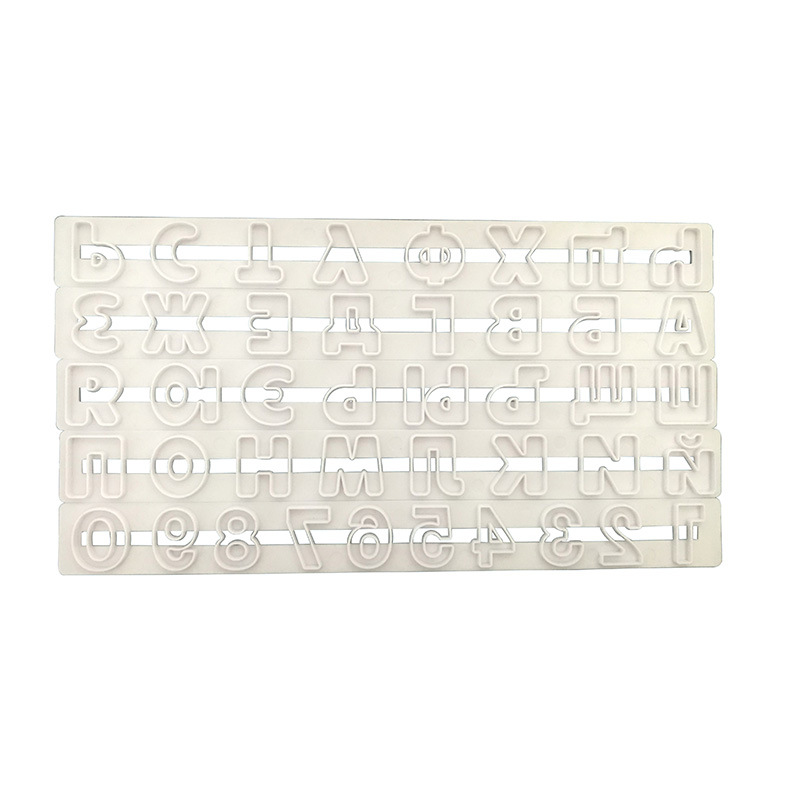 5pcs Cake Tools Russian Alphabet Letters Numbe Cutter Set Biscuit Stamp Mould Baking Sugarcraft Mold