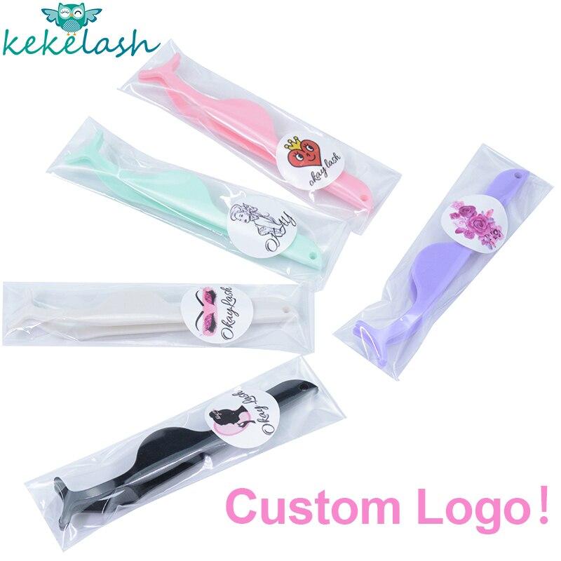 kekelash etiqueta privada pincas de cilios falsos logotipo personalizado lash aplicadores ferramentas de maquiagem lash modelador