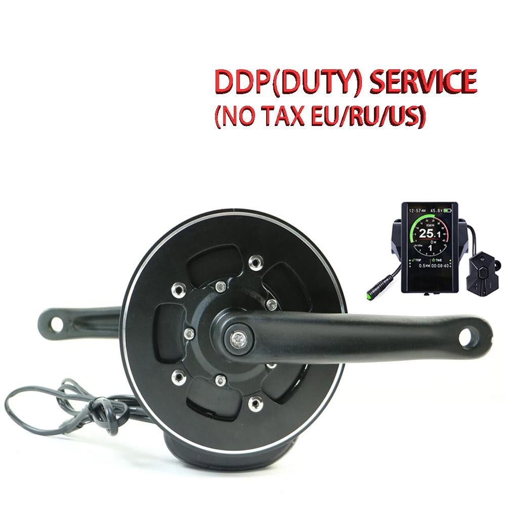 Kostenloser versand elektrische bike kit 48V500W 36V350W Tongsheng TSDZ2 mitte antrieb motor kit mit drehmoment sensor