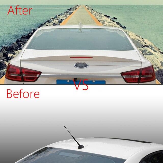 1pc diseño llamativo coche tipo aleta de tiburón para Radio antena para Ford Escort sedán 2015, 2016, 2017, 2018 aéreos para automóvil señal de antena