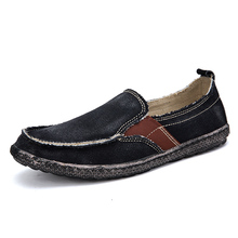 Men's casual shoes Summer Light Canvas Shoes Men Breathable Men Shoes Loafers Soft Comfortable Outdoor Flat Lazy Shoes for Male цены онлайн