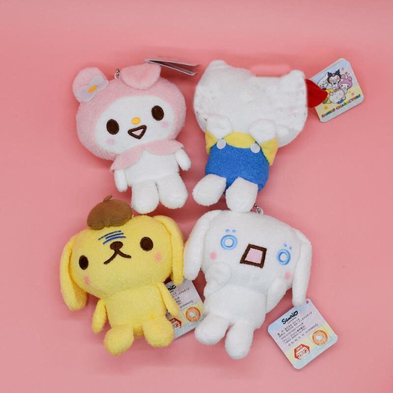 1 Pc Sanrio Series Melody Pudding Cinnamoroll Dog Plush Cartoon Animal Stuffed Plush Toys Bag Pendant For Girls Kids Gift