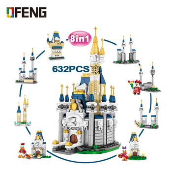 SY6584 8IN1 City Building Blocks Princess Castle set model Figure bricks Grils Friends series Toys Gifts Compatible 731 pcs princess castle windsor s castle diy model building blocks bricks kit toys girl birthday gifts compatible with legoings