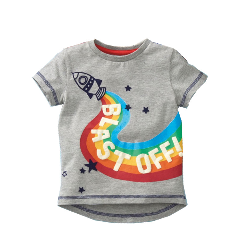 VIDMID baby boys short sleeve t-shirts clothes kids cartoon Dinosaur Tees boys striped clothing t-shirts tops clothes W02 3