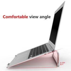 Image 3 - Podstawka pod laptopa,Regulowany aluminiowy stojak na laptopa przenośny uchwyt na notebooka do komputera Macbook Pro uchwyt do stojaka na komputer
