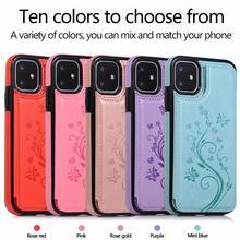 Yxayn aleta couro caso estilo 3d padrão cartão slots telefone capinhas para iphone12 mini 11 pro max x xr xs max 7 8 mais telefone cas