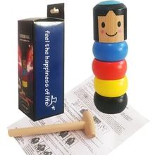 Небьющийся деревянный человек волшебная игрушка Immortal Daruma Волшебные Трюки крупным планом сценический магический реквизит забавная игрушка для детей Забавный подарок