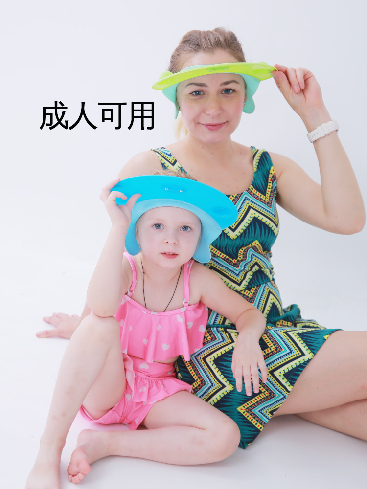 Children Shower Cap Silica Gel Earmuff Baby Bath Cap Infant Kids Adults With Waterproof Shower Cap Shampoo Useful Product